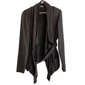 BRUNELLO CUCINELLI suede belted leather jacket